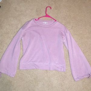 Bell sleeve lilac sweater
